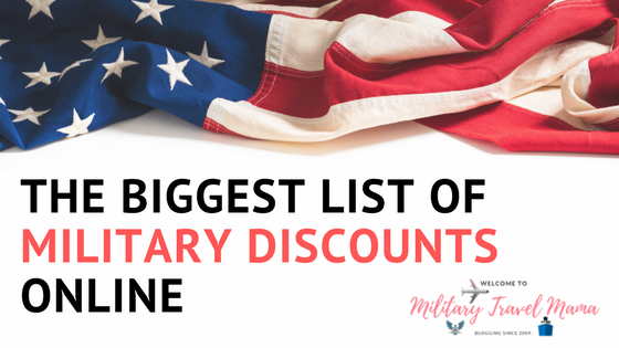 The biggest list of military discounts online