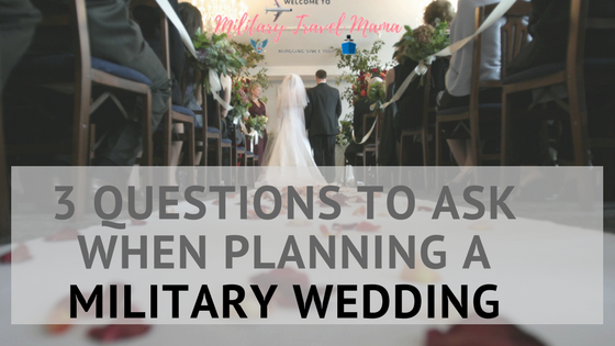 3 Questions To Ask When Planning A Military Wedding